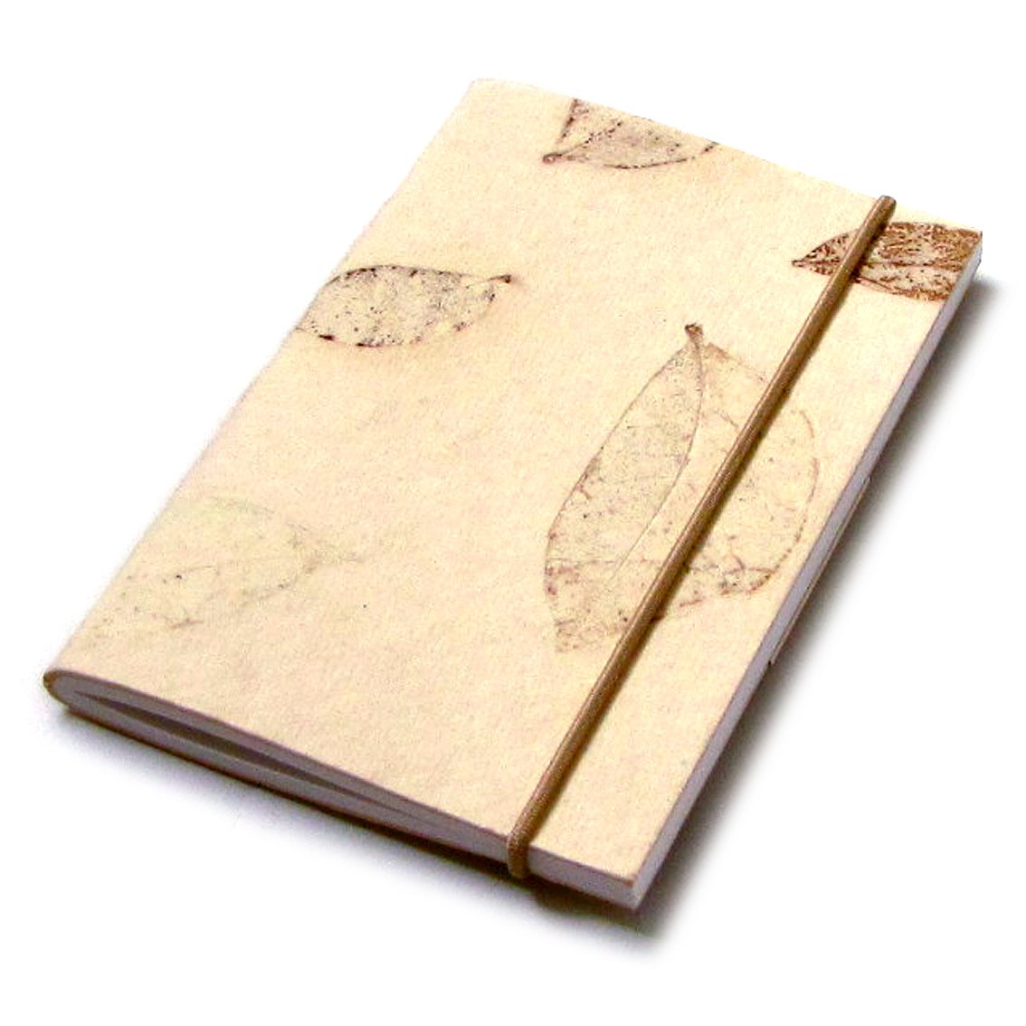 Blank journal handmade notes 3x5 cream small natural leaf recycled paper craft Xmas mom present