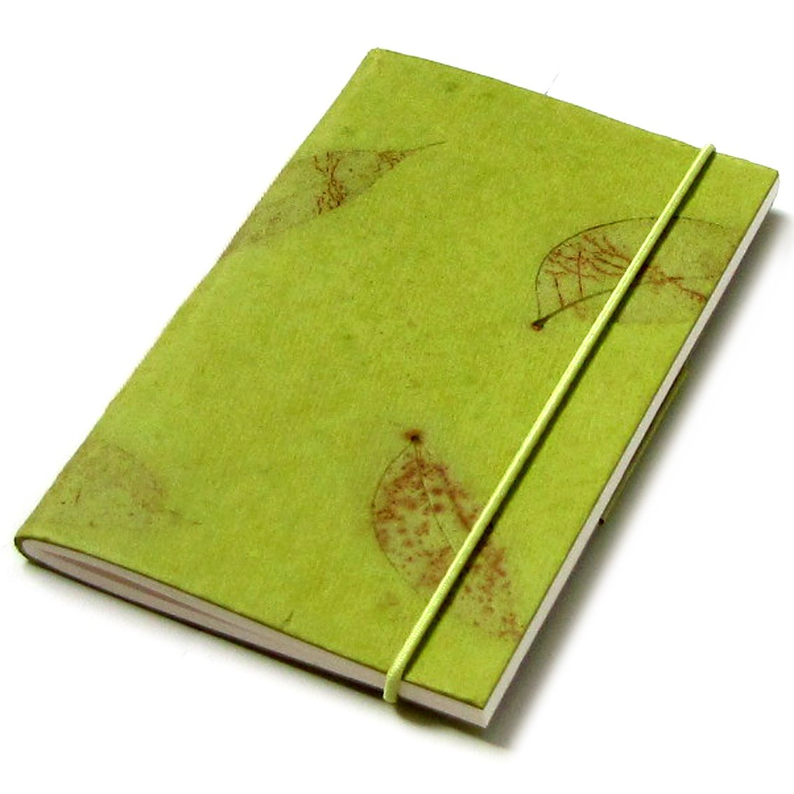 Pocket notebook blank journal 3x5 40pp olive ethical handmade paper craft note pad