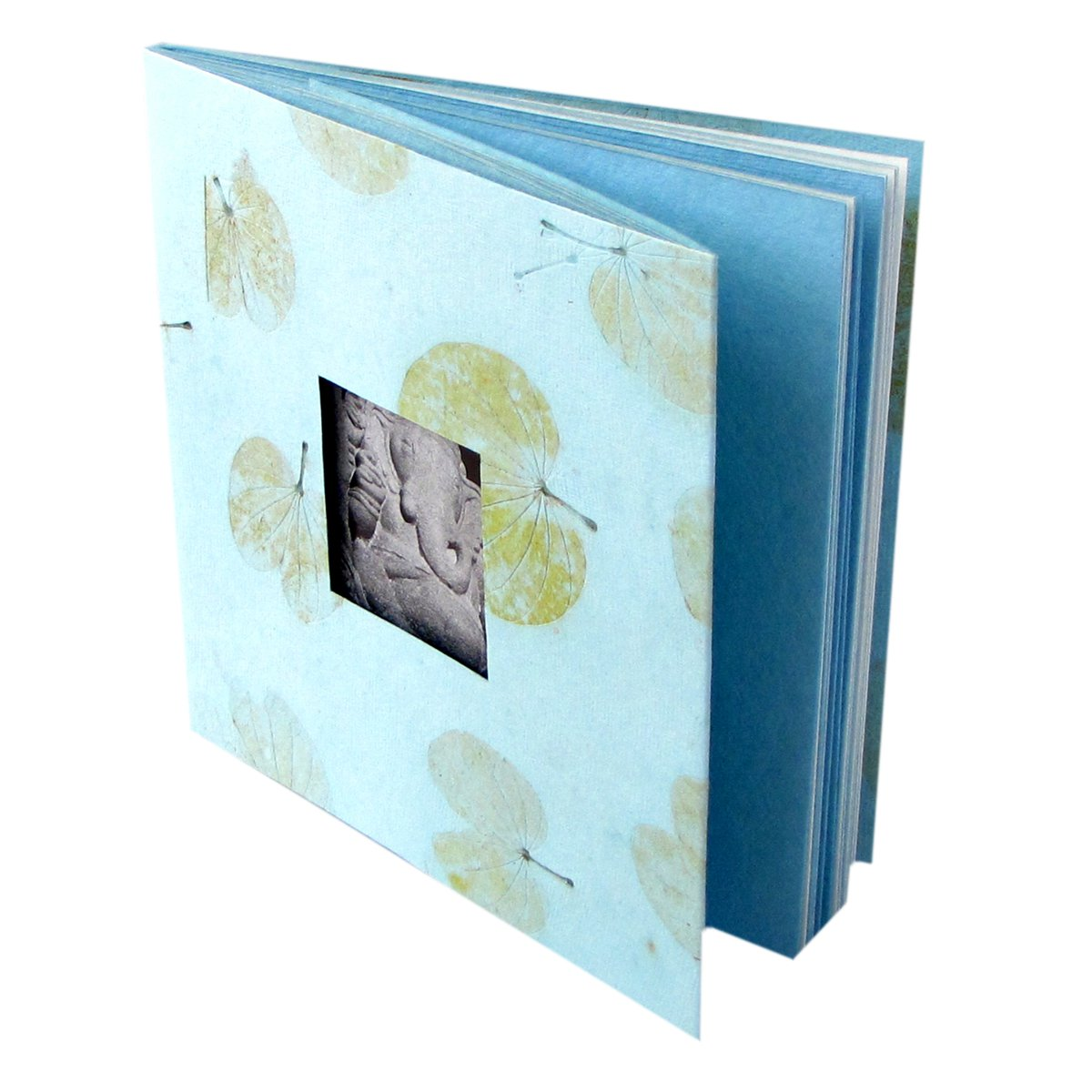 Photos albums baby book 5x7/6x8 tree free blue heart leaf handmade paper gift 16pp
