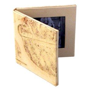Wedding photo frame handmade folding 2.5x2.5 cream leaf imprint paper