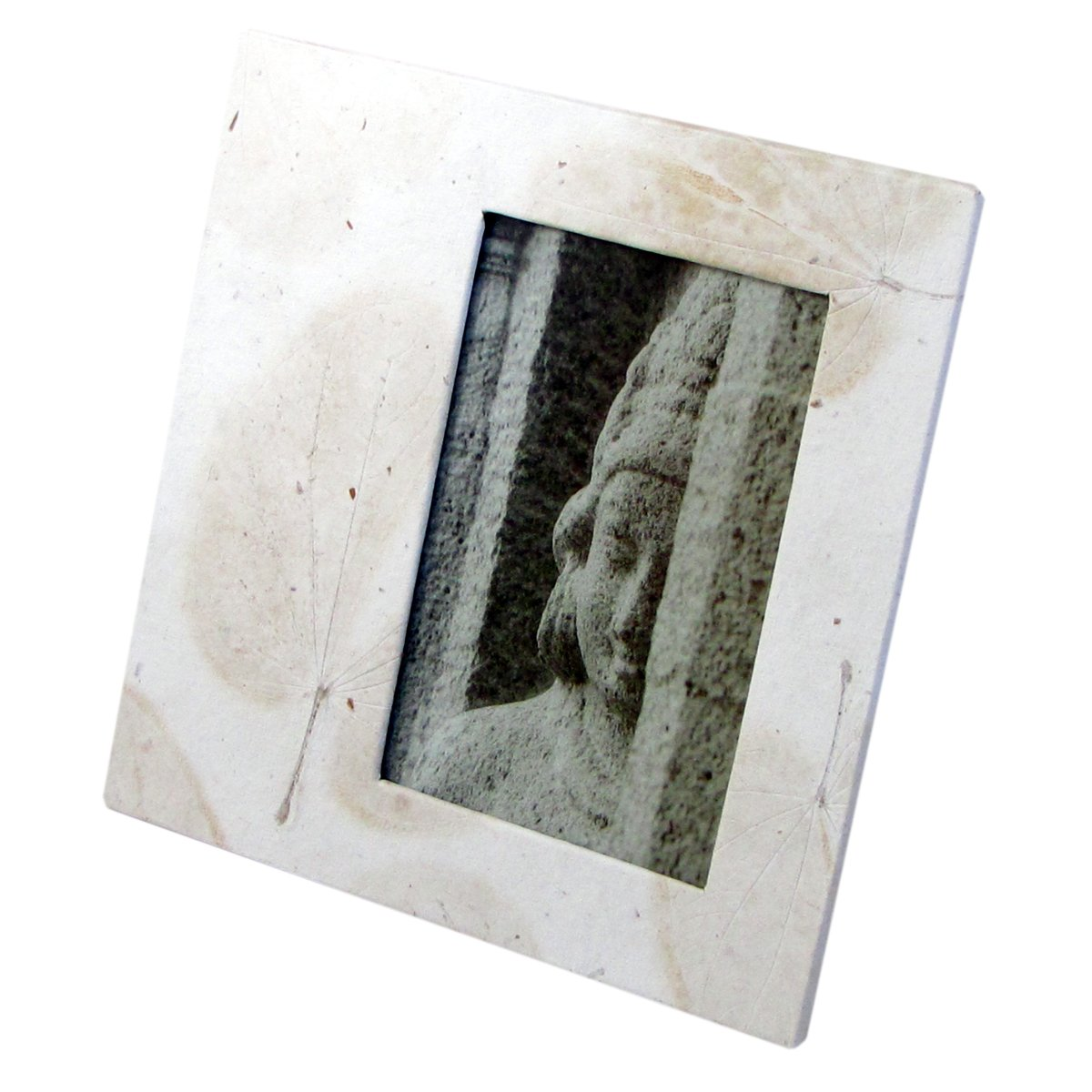 Wedding photo frame 4x6/5x7 tree free handmade white heart leaf imprint paper