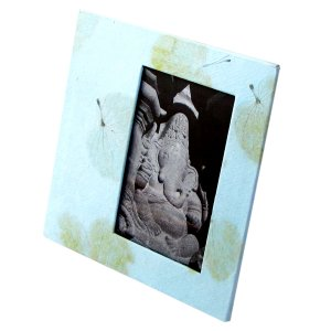 Handmade baby picture frame 4x6/5x7 tree free leaf imprint paper craft shower mom present