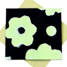 Handmade greetings thank you cards recycled flower power paper crafts black/green bday mom xmas gifts 5x5 1/2""