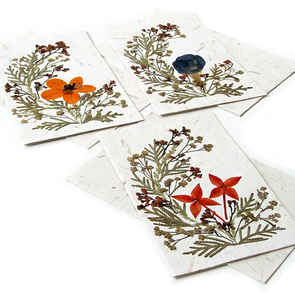 3 handmade paper greeting birthday cards 4x6 recycled
