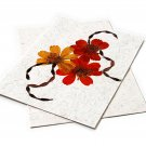 3 handmade greetings cards stationery tree free flowers spiral 5x7 paper craft mom present