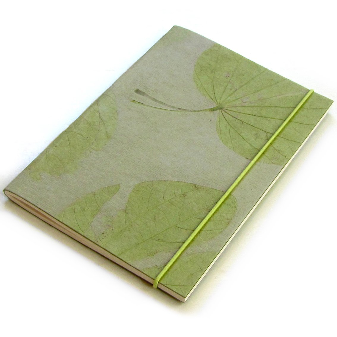 Diary natural heart leaft handmade mint paper sketching 5x7 40pp blank notebook