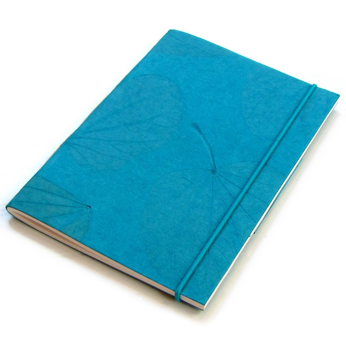 Handmade journal paper craft Xmas mom present stationery diaries teal heart leaf blank 5x7 40pp notes