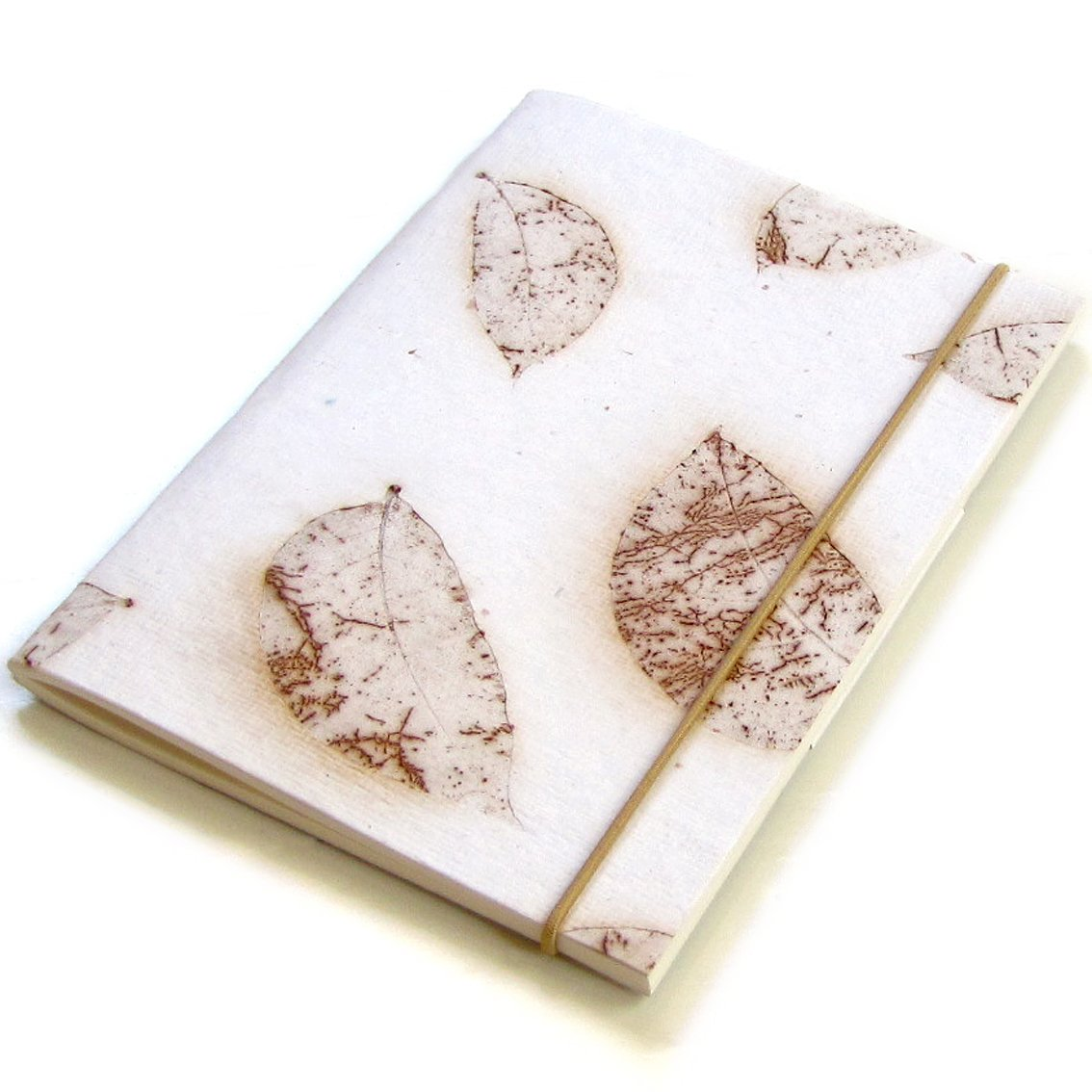 Guest book blank notebook handmade white leaf paper 5x7 40pp handmade natural leaf paper