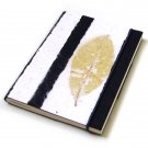 Blank diary sketching notebook handmade striped paper black 5x7 88pp stationary paper craft