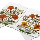 4 greeting thank you birthday stationery 5x7 cards handmade tree free paper dried pressed flowers