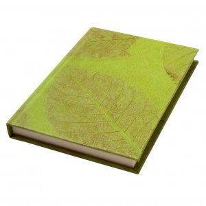 Handmade guest book diary journal hard back olive handmade paper craft stationary 5x7in 104pp Xmas