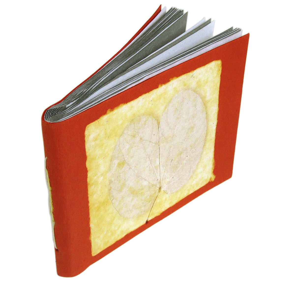 5x7 photo albums 16pp book handmade orange recycled handcrafted paper craft wedding gifts