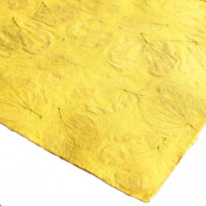 Tree free gift craft paper handmade 21x31in sheets  recycled crafts yellow heart leaf