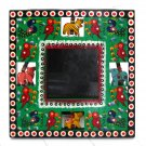 Photo picture framing wood handmade Moms 3.5x3.5 Valentine's gifts Indian folk art craft present