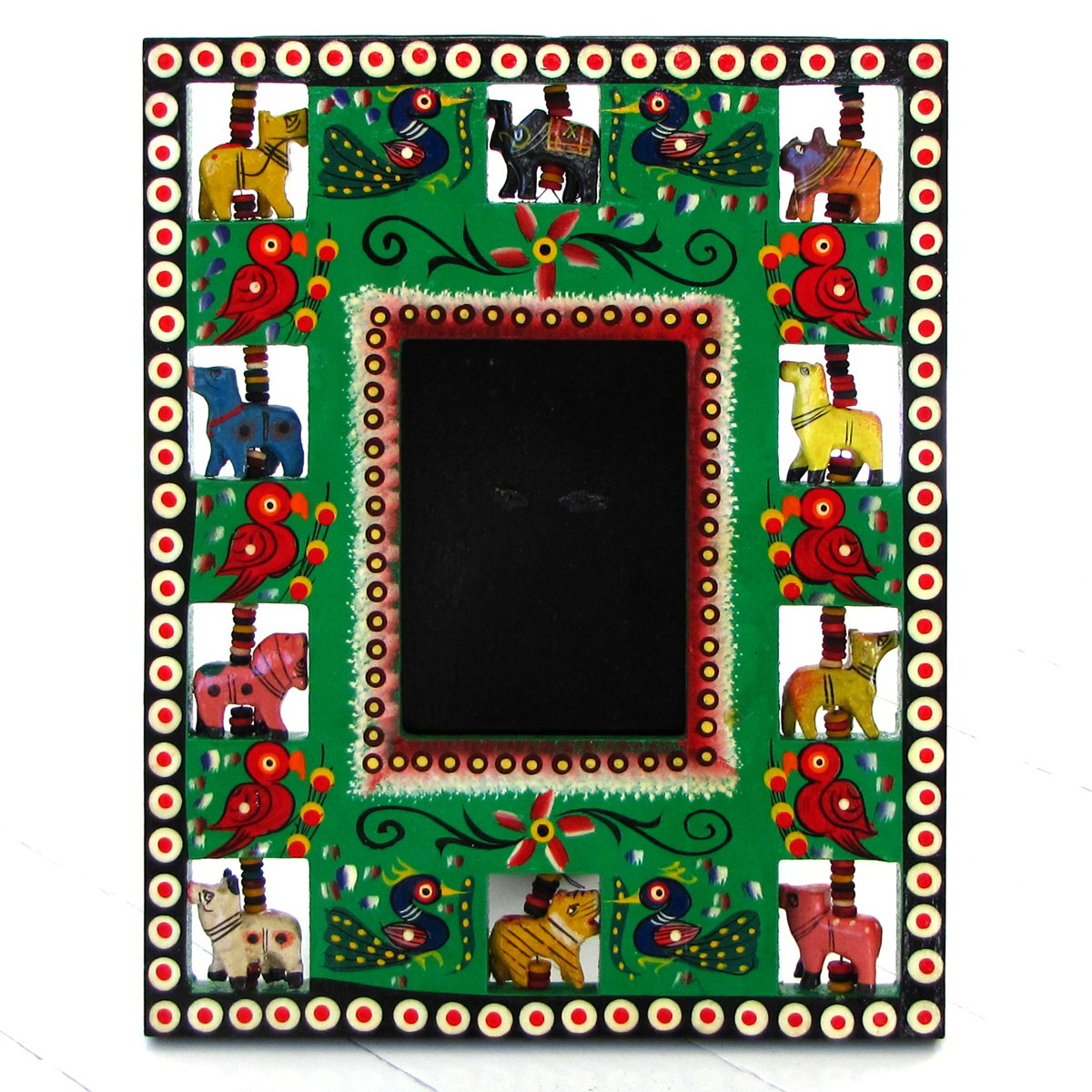 Wood craft handmade picture frame 3.5x4.5 (8x10) Valentine's gifts handmade Indian folk arts