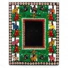 Wood craft handmade picture frame 3.5x4.5 (8x10) Valentine's gifts handmade Indian folk arts
