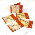 Handmade gift tags 3x2.5 dark orange set 5 natural leaf craft paper mom present