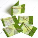Green gift tags handmade stationery set5 tree free natural leaf craft paper ethical gifts 3x2.5
