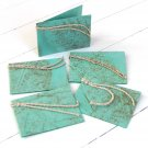 Gift tags present labels handmade craft natural leaf paper 3x2.5 green gifts present