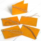 Gift labels tags handmade craft gifts natural leaf yellow paper 3x2.5 folded