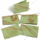 Gift tags light green natural leaf set5 3x2.5 folded handmade tree free paper craft