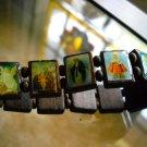 new dark Wood  saint stretch bracelet  Catholic jewelry