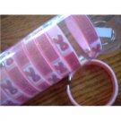 Pink  Ribbon cancer awareness open  bangle  bracelet