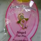 Angel  cancer  awareness tac Pin  new pink  ribbon