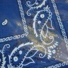 Blue  paisley bandana new  shipping included