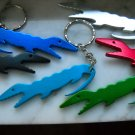 alligator  key chain bottle opener silver metal