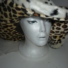 Cheetah print Pinp wild wide brim Hat costume party