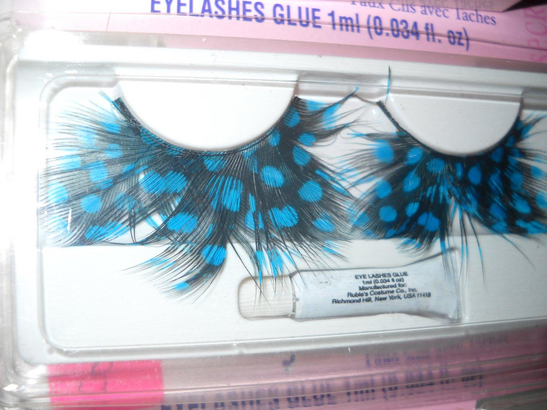 Spotted Feathered Blues Eyelashes costume lash shipped free