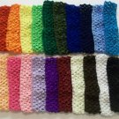 "12 Crochet Headbands 1.5"" Lot Dozen Assorted Colors New"