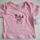 "Baby Girls ""Go Wild"" Zebra Pink Shirt 6 9 Gift NWT New"
