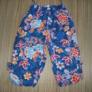 OILILY Gorgeous Blue Girls Pants Flowers Euro 98 2t 3T