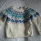 OLD NAVY Wool Blend White Fall Girls Sweater 2 2t 3 3T