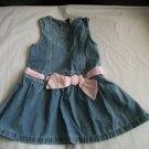 Baby GAP Denim Jean Dress Toddler Girls 24 24m 2 2t