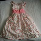 Maggie & Zoe Girls Peach Floral Lined Dress 2 2t 3 3t
