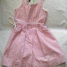 Tommy Hilfiger Girls Pink White Striped Dress 3 3t 4 4T