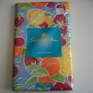 Summer FRUIT Tablecloth Vinyl Flannel backing New Gift