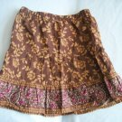 OLD NAVY Girls Brown Flowers SKIRT Floral 3 3t 4 4T