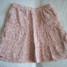 OLD NAVY Girls PINK White Flowers SKIRT Tiered 3t 4 4T