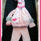 Old Navy Girl POODLE Dog Costume Fifi Pink 2t 3T 3 Cute