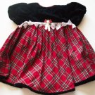 Youngland Baby Girl Red Plaid Black Holiday Dress 12 18