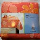 "Peach Tablecloth Flowers PEVA Vinyl Oblong 60"" X 102"""