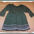 GAP Baby Girl Fall Winter DRESS Green M Size 6 9 12 m