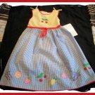 Youngland Girls Gingham Summer Dress Fruit NEW NWT 4 5
