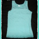GAP Girls Blue Polka Dot Lace TANK Top Shirt L Large 12