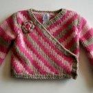 GAP Girls PINK WOOL Tan Winter Knit Sweater Fall 2 2T