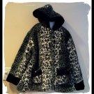 KC Collections Winter Faux Fur Coat Girls L Large 10 12